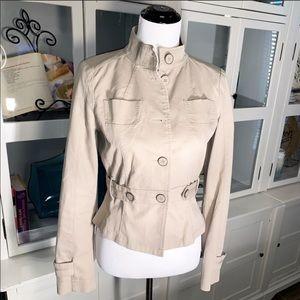 Mexx Fitted Womens Jacket Sz 8 (10 UK) Khaki Color